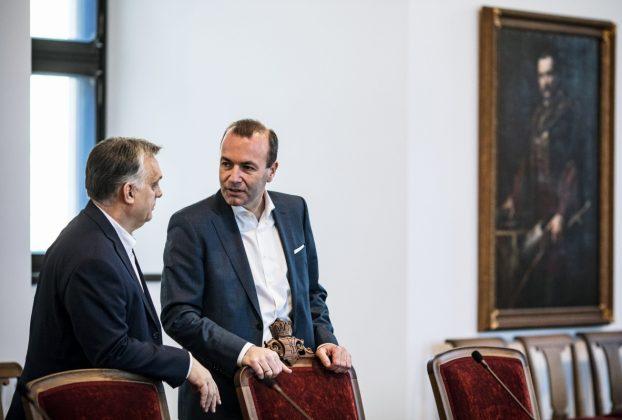 Manfred Weber és Orbán Viktor