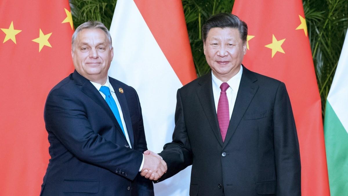 Orbán Viktor és Hszi Csin Ping kínai elnök