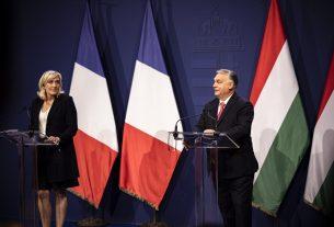 Marine Le Pen és Orbán Viktor
